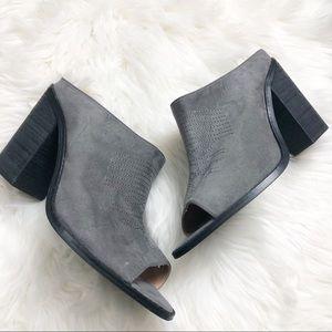 EUC Torrid Grey Western Mule block heels